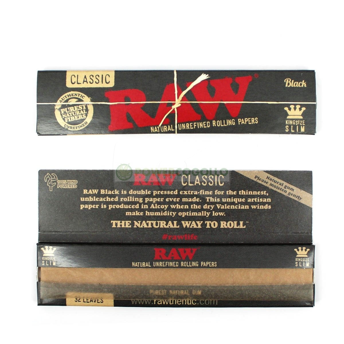 Papel Raw Black King Size Slim - 1 uds./caja   ()